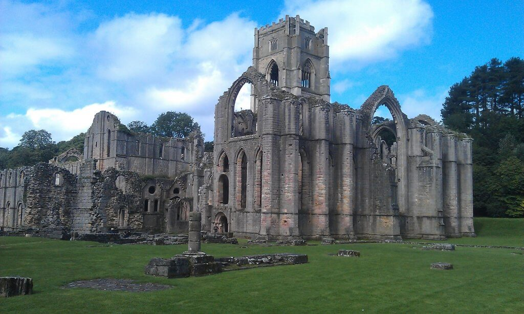 Ruins in Fountains Abbey