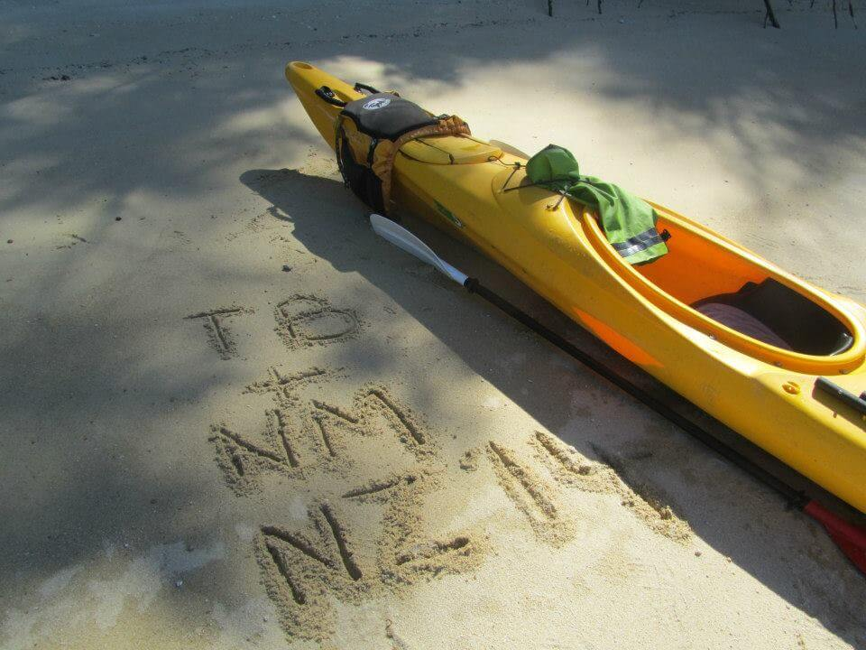 Kayak on the sand